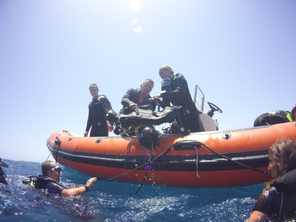 Tauchkurs Advanced Open Water Diver Boot Tauchen