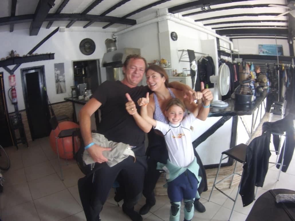 Familie im Tauchclub Ocean Trek