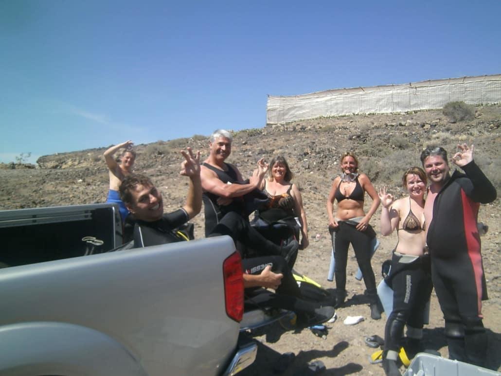 Tauchgruppe in Los Abrigos