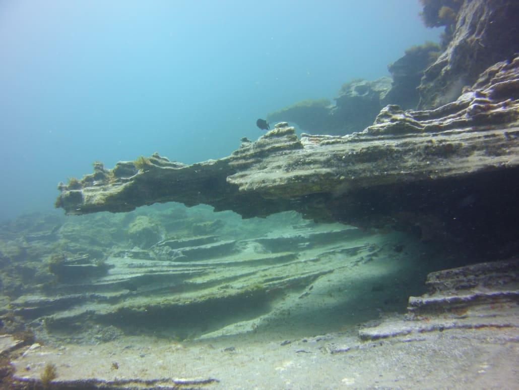 Unterwasserlandschaft Tauchplatz Yellow Mountain